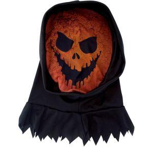 Hooded Scary Jack-o'-Lantern Mask