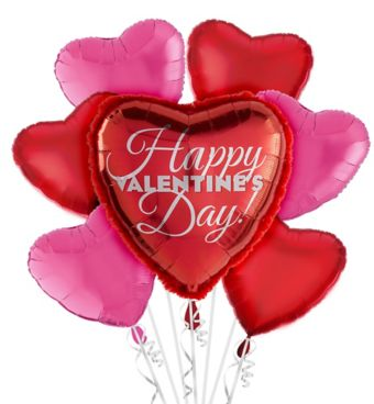 Valentine's Day Balloon Bouquet - Heart with Arrow 5pc