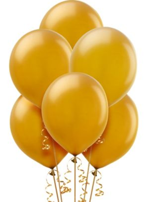 Gold Pearl Balloons 15ct