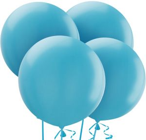 Caribbean Blue Balloons 4ct