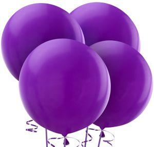 Purple Balloons 4ct