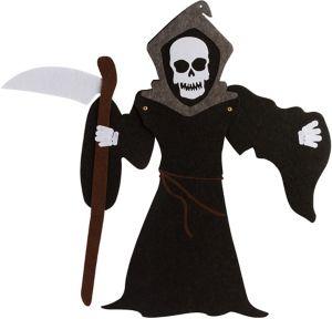 Jointed Felt Grim Reaper