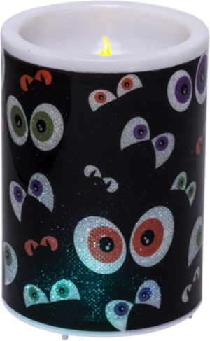 Spooky Eye Flameless Pillar Candle