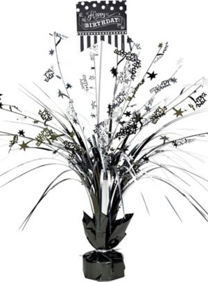Black & White Birthday Spray Centerpiece
