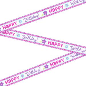 Metallic Purple & Teal Pastel Birthday Banner
