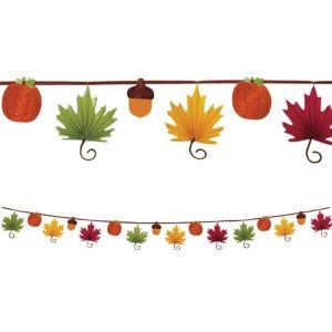 Fall Leaf Paper Fan Garland