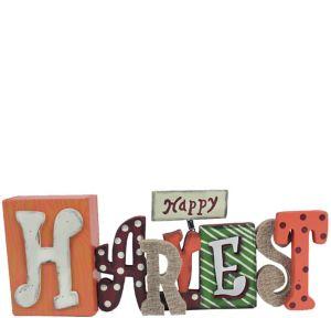 Happy Harvest Block Letter Sign