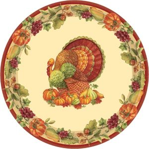 Joyful Thanksgiving Lunch Plates 60ct
