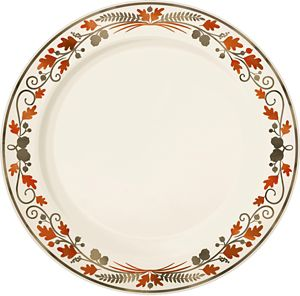 Thanksgiving Premium Plastic Dinner Plates 10ct