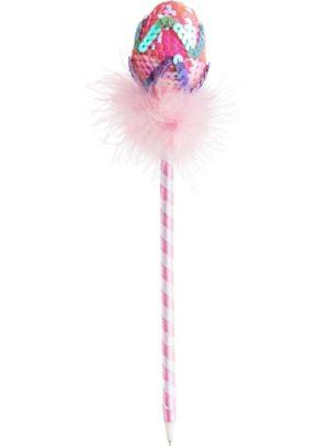 Pink Chevron Easter Egg Pen