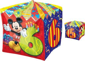6th Birthday Mickey Mouse Balloon - Cubez
