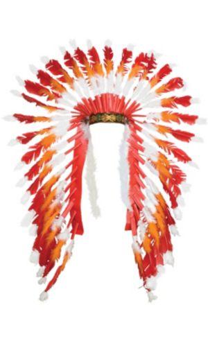 Red & Orange Native American Headdress