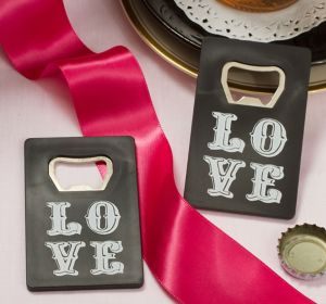 Chalkboard Love Credit Card Bottle Opener