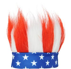 Patriotic Red, White & Blue Crazy Hair Headband