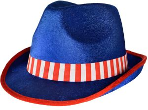 Red, White & Blue Fedora