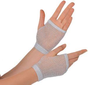 Silver Fishnet Glovelettes