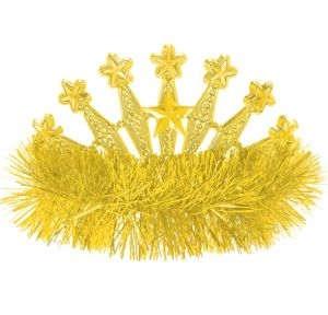 Yellow Star Tinsel Tiara