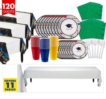 You Did It Graduation Tableware Kit for 120 Guests
