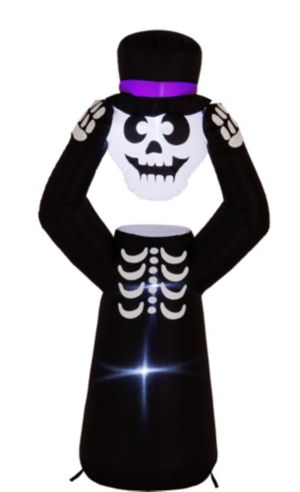 Light-Up Inflatable Headless Skeleton