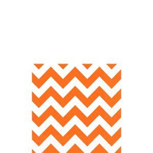 Orange Chevron Beverage Napkins 16ct