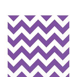 Purple Chevron Lunch Napkins 16ct