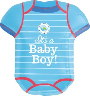 Boy Baby Shower Balloon - Shower With Love Bodysuit