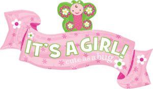 Girl Welcome Baby Balloon - Giant Welcome Little One