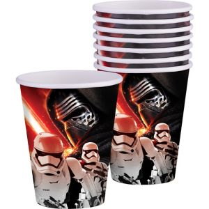 Star Wars 7 The Force Awakens Cups 8ct