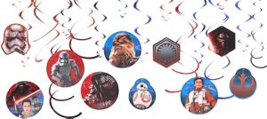 Star Wars 7 The Force Awakens Swirl Decorations 12ct