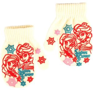 Child White Anna & Elsa Mittens - Frozen
