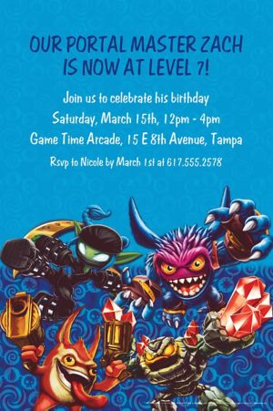 Custom Skylanders Invitations
