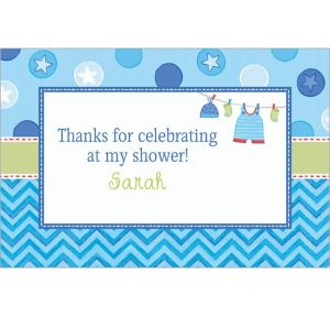 Custom Shower with Love Boy Thank You Notes