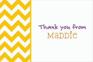 Custom Sunshine Yellow Chevron Thank You Notes