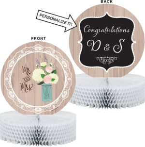 Rustic Wedding Honeycomb Centerpiece