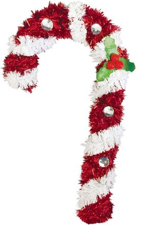 Hanging Tinsel Candy Cane