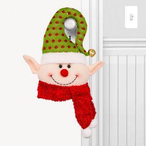 Green Plush Elf Door Hanger