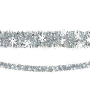 Silver Snowflake Boa Tinsel Garland