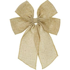 Glitter Burlap Bow