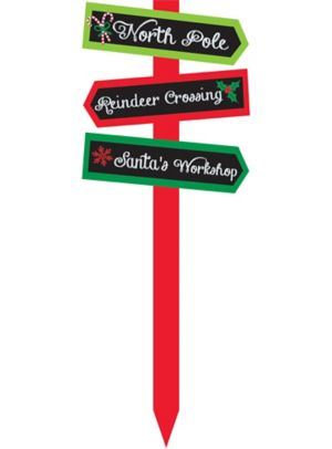 Christmas Chalkboard Yard Sign
