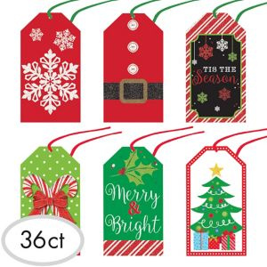 Modern Christmas Gift Tags 36ct