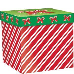 Candy Cane Stripe Gift Box
