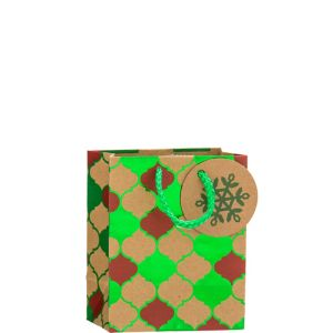 Metallic Moroccan Kraft Christmas Gift Bag