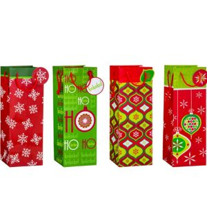 Holiday Bottle Bags 4ct
