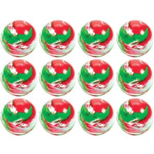 Red & Green Bounce Balls 12ct