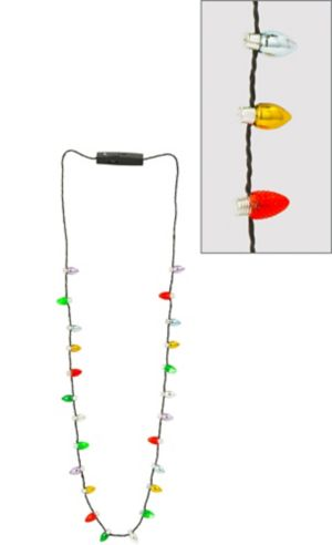 Light-Up Christmas Lights Necklace