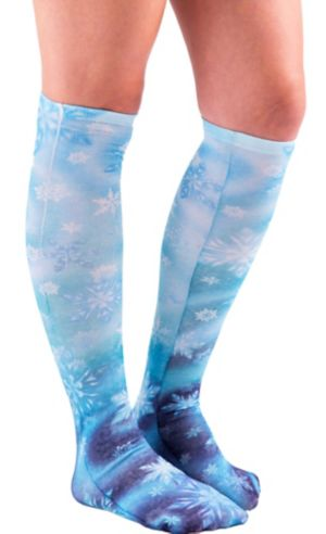 Snowflake Knee-High Socks