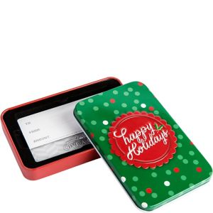 Happy Holidays Gift Card Holder Tin