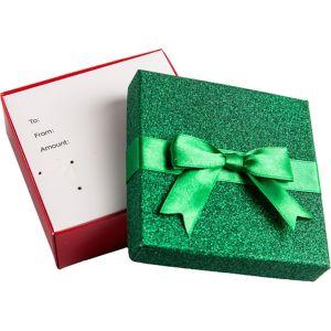 Glitter Green Gift Card Holder Box