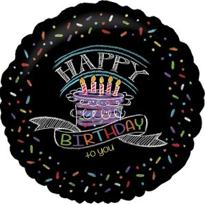 Happy Birthday Balloon - Chalkboard Birthday