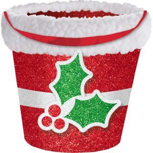 Glitter Holly Treat Bucket
